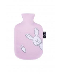 Túi chườm nóng bọc lông cừu trẻ em hình thỏ - Màu Hồng