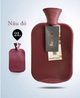 Túi chườm cổ điển Fashy Germany (Nâu đỏ)